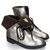 Ankle boots Greta 1 Talca Steel Turtle Dark Brown Sherling Cognac