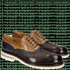 Oxford shoes Trevor 1 Classic Dark Brown Tortora Cobalt Kudu Wax Wine Crip White
