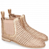 Ankle boots Susan 10 Woven Rose Gold Elastic Guglia