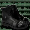 Ankle boots Greta 4 Nappa Black Fur Long Black
