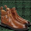 Ankle boots Susan 68 Wood Elastic Glitter Tan Sword Buckle Rivet Welt