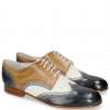 Derby shoes Sally 15 Moroccan Blue Silver Vegas Perfo White Make Up
