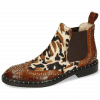 Ankle boots Sally 45 Crock Mid Brown Tan Hairon Mucca Multi Byenic Rivets