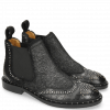 Ankle boots Sally 45 Big Croco Black Hair On