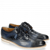 Derby shoes Henry 7 Navy Wind Sky Blue Woven Navy Modica White