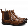 Ankle boots Eddy 21 Milano Wood Mixed Rivets Elastic Brown LS Brown