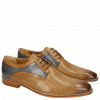 Derby shoes Alex 10 Berlin Perfo Oxygen Tan Mid Blue
