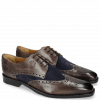 Derby shoes Martin 15 Venice Stone Suede Mr Touch Navy