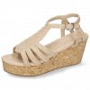 Sandals Hanna 55 Woven Off White Cork