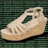 Sandals Hanna 55 Woven Off White Cork