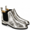 Ankle boots Susan 37 Cromia Gunmetal Hairon Jersey Metallic Black White