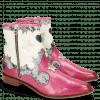 Ankle boots Marlin 12 Vegas Dark Pink Snake Multi Perfo White