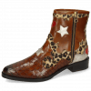 Ankle boots Marlin 12 Crock Mid Brown Hairon Leo Medio Cognac