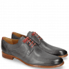 Derby shoes Clint 1 Pavia Navy Deco Pieces Red