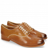 Oxford shoes Selina 4 Pisa Tan Binding Patent White