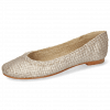 Ballet Pumps Kate 5 Woven Rose Gold