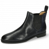 Ankle boots Susan 67 Venice Navy Elastic Glitter
