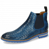 Ankle boots Brad 6 Woven Venice Mid Blue Elastic Navy