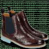 Ankle boots Selina 6 Crock Burgundy Elastic Navy