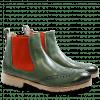 Ankle boots Amelie 5 Militaire Elastic Orange Rook D Sabbia