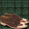Derby shoes Lance 1 MTC Suede Pattini Dark Brown LS Raw