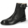 Ankle boots Sally 85 Black French Nappa Black Strap Sword