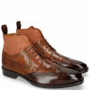 Ankle boots Jeff 34 Mid Brown Wood Tan Suede Pattini Rust