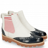 Ankle boots Selina 29 Navy Nappa Perfo White Elastic Oxford
