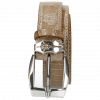 Belts Larry 1 Crock Light Grey Sword Buckle