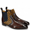 Ankle boots Lewis 26 Turtle Mid Brown Navy Hairon
