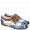Oxford shoes Sonia 1 Vegas Neptune Blue Talca Perfo Silver Mink White