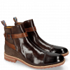 Ankle boots Eddy 9 Mogano Suede Pattini Brown