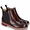 Ankle boots Selina 6 Burgundy Elastic Navy