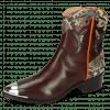 Ankle boots May 6 Mogano Snake Ivory Orange