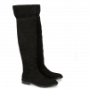 Boots Sally 65 Kid Suede Black New HRS Thick