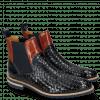 Ankle boots Brad 9 Woven Navy Orange Aspen Navy