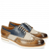 Derby shoes Johnny 1 Tex Funky Visone 60 Moroccan Blue