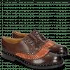 Oxford shoes Sally 75 Mogano Winter Orange Rivets