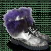 Ankle boots Bonnie 18 Afix Grafite Black Nappa Aztek Silver Fur Bunny Blue