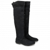 Boots Sally 65 Kid Suede Navy New HRS Thick