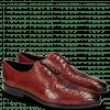 Derby shoes Emma 7 Ruby Lasercut Spider Rivets Skull