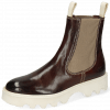 Ankle boots Sally 135 Imola Chestnut Stitching White