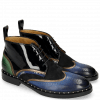 Ankle boots Sally 30 Saphir Nappa Aztek Bronze Oriental Patent