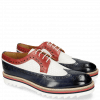 Derby shoes Trevor 10 Navy Venice Perfo White Red