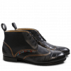 Ankle boots Sally 30 Croco Nappa Korela Black Bronze HRS