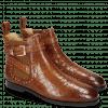 Ankle boots Susan 68 Crock Wood Elastic Glitter Tan Sword Buckle Rivet Welt