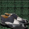 Derby shoes Kane 5 Navy Grafi Gunmetal Suede Pattini Navy