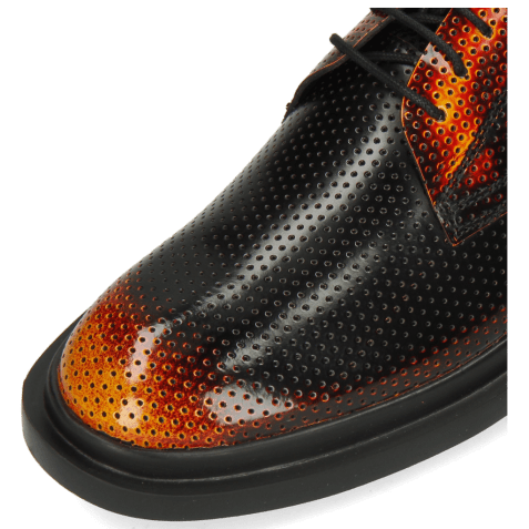 Derby shoes Ron 1 Brush Off Perfo Yellow Orange Black