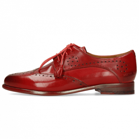 Derby shoes Selina 41 Red Lining Rich Tan