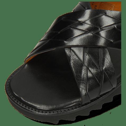 Mules Sam 37 Classic Interlaced Black Lining